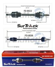 Mercury Tracer Ford Escort Mazda 323 FWD Pair Front CV Axle Shafts SurTrack Set