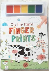 Farm Finger Print Activity Book On The Farm by Hinkler Books New, 35+ activities