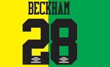 Beckham #28 Manchester United 1993-1994 Newton Heath Football Nameset for shirt