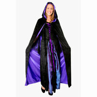 """Dracula Vampire Cape Black Polyester Taffeta 56/"""" 142cm Long with stand up collar"""