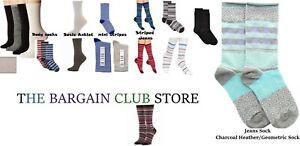 Hue Women's Socks Body Sock /Striped Jeans /Basic Socks or mini stripes One Size