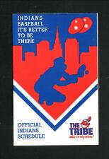 Cleveland Indians--1988 Pocket Schedule--Leaf Candy