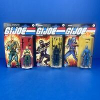 GI JOE Action Figure Lot of 3 2020 Retro Figures Duke Snake Eyes Cobra Commander