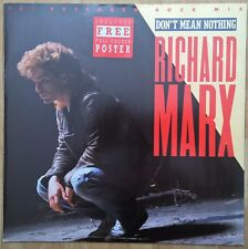 "RICHARD MARX - 12"" - Don't Mean Nothing (Extended Rock Mix) + Poster. UK 3 Track"
