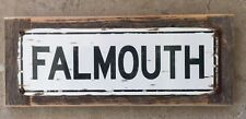Falmouth Road Race Cape Cod Beach Running Vintage Frame Street Sign Home Decor