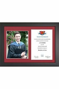 """Graduation Certificate and Photo Frame for 8""""x10"""" photo and A4 certificate"""