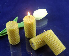 6Pcs Hand-Rolled 100% natural beeswax candle