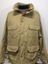 Vintage Woolrich Parka Insulated Jacket Khaki Outdoor Winter Coat Men's Sz XL
