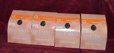 Leggs 4 Pair LOT Size Q Day Sheer Regular Pantyhose Sheer Toe Off Black (4)