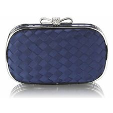 Women's Fabric Sparkly Diamante Clutch Evening Bags For Wedding Night Out Bridal