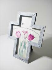 "Hallmark Nature's Sketchbook Marjolein Bastin framed Tulip Cross Plaque White 8"""