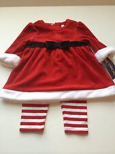 Cherokee Girl Santa Mrs Claus Noel Dress Pants Christmas Holiday Size 3 Months