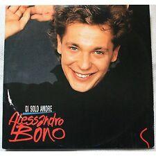 ALESSANDRO BONO - Di solo amore - MAXI LP VINYL 1989 PROMO 12