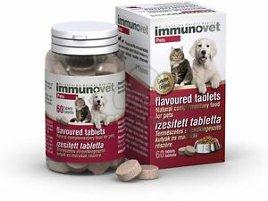 IMMUNOVET Chewable Tablets for Cats and Dogs - Fermented Wheat Germ Extract
