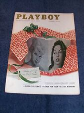 PLAYBOY MAGAZINE. DECEMBER 1957. RARE AD CARDS STILL ATTACHED.