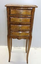 antique french style american made satinwood table night stand 4 drawers