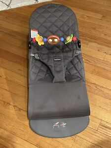 Babybjorn Bouncer Bliss With Toy Bar Anthracite Cotton 8-29 Lbs