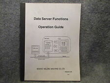Makino Milling Machine Data Server Functions Operation Guide Manual Book 11061