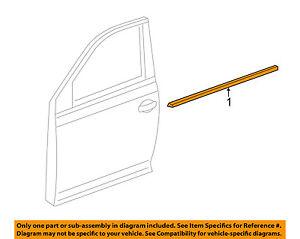 -Door Window Sweep-Belt Molding Weatherstrip Right 5C6837478B5AP