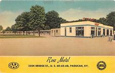 Kentucky Ky Postcard PADUCAH McCracken County ROSE MOTEL Roadside AAA