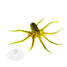 Emulational Float Artificial Octopus Aquarium Ornament + Suction Cup Yellow