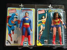Superman and Wonder Woman DC Retro Series 1 Action Figures (Set of 2)