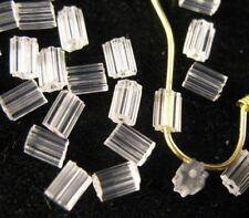 300pcs Clear Plastic Earring Back Stoppers Tube E639