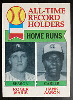 1979 Topps All-Time Record Holders HR's #413 Roger Maris & Hank Aaron Very Clean