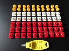 Playmobil  System x   Verbinder 20 gelb 20 weiß und 30 rot + 1 Schlüssel (5014)
