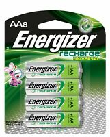 Energizer Rechargeable AA , NiMH, 2000 mAh, 1.2V Pre-Charged, 8 Count