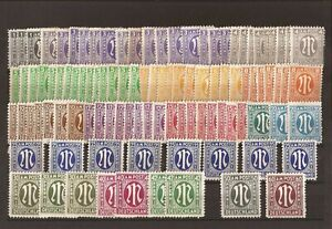 Germany- ( 102) AMG stamps( MNH, H,No gum,thins,Gum faults)