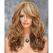 Brown Mixed Blonde Full Wig Gradient Wavy Curly Long Hair Costume Lolita Wig