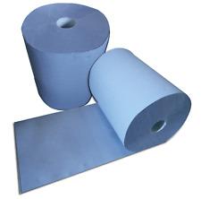 2 Rollen Putzpapier Putztuchrolle 3 lagig 36x38cm blau Werkstatt ges. 1000 Blatt