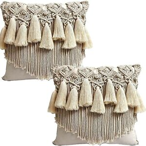Macrame Throw Pillow Cover / Cushion Case Decorative for Bed Sofa Gifts decor #7