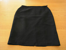 Ladies Stitches Petite Pencil Black Office Work Lined Pleated Back Skirt Size 12
