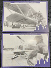 London Postal Region Postcard X 2 Aviation Aircraft Helicopter 350 Years Post