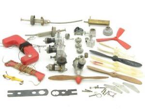 Vintage Line Control Gas Engine Lot Parts Cox Top Flite Wen-Mac