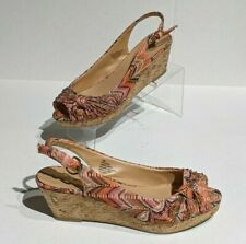 Nine West Women's Slingback Wedge Sandals Size 7.5 AlyssaOL1