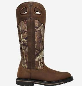 """Lacrosse 532062M-7 17"""" Tall Grass Camo Snake Boot Size 7"""