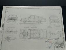 Opel Kadett B Kiemen Coupé 1965 Blueprint / Konstruktionszeichnung