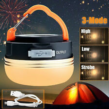 Portable Rechargeable LED Hiking Camping Tent Lantern Light USB Lamp Outdoor