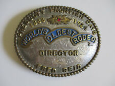 1984 Prescott Arizona Frontier Days western rodeo championship belt buckle