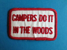 Campers Do It In The Woods Hippie Biker Vest Jacket Hat Backpack Hoodie Patch A
