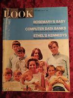 LOOK June 25 1968 6/68 MIA FARROW Rosemary's Baby ETHYL KENNEDY NORMAN ROCKWELL