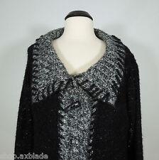 SLONI Warm Black Wool Blend Cardigan Sweater size XL