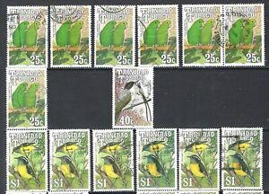 TRINIDAD & TOBAGO 1990 Tropical Birds Used Issues Accumulation  (May 292)