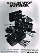 Publicité Advertising 1985 Appareil photo Hanimex