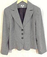 Worthington Women's Size 12 Jacket Blazer Black White Wear to Work Career 12