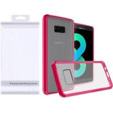 Fundas y carcasas transparente de plástico de color principal rosa para teléfonos móviles y PDAs
