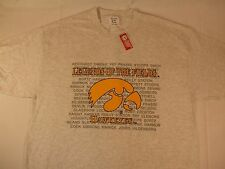 Iowa Hawkeye Tshirt former Legends Kinnick Karras Long Fry Adult XL ROSE BOWL